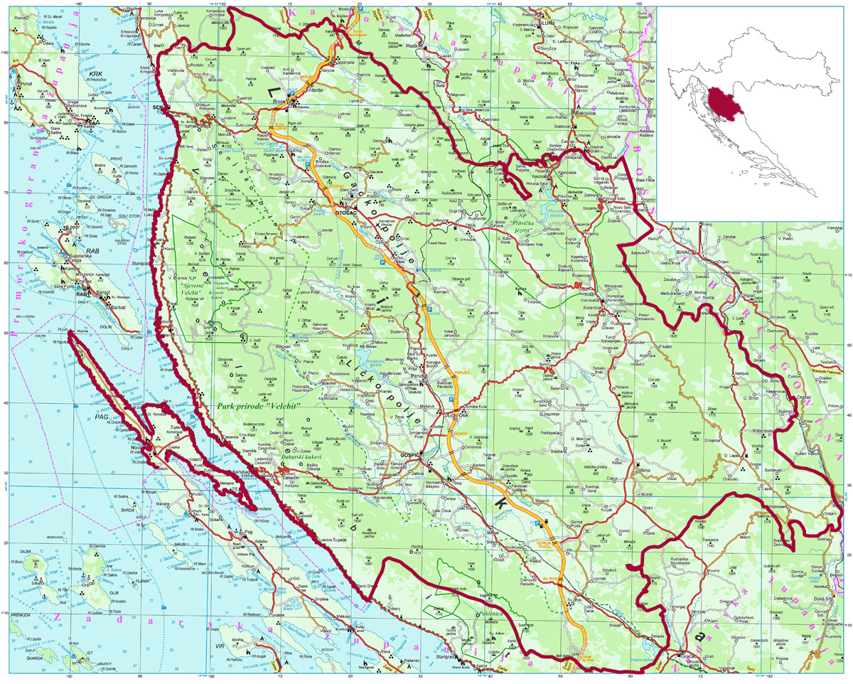 lika mapa GASTRONOMY, LIKA SENJ REGION, Simplicity and Delights lika mapa
